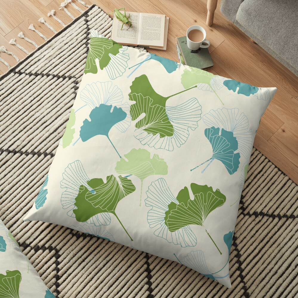 Ginkgo Leaves Floor Pillow