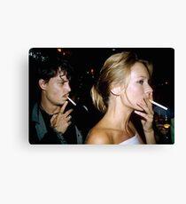 SMOKE SHOWS Canvas Print