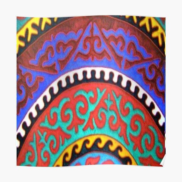#Ковровый #узор #балкарского #карачаевского #войлочного #ковра #Carpet #pattern of a #Balkarian & #Karachay #felt #carpet #Ковровыйузор #CarpetPattern #таулу #tawlu #mountaineer #таулула #tawlula Poster