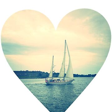 Newport, RI Sailboat in Heart by jr4599