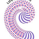 Life Is A Curve Pink/Purple/White by dearingdraws