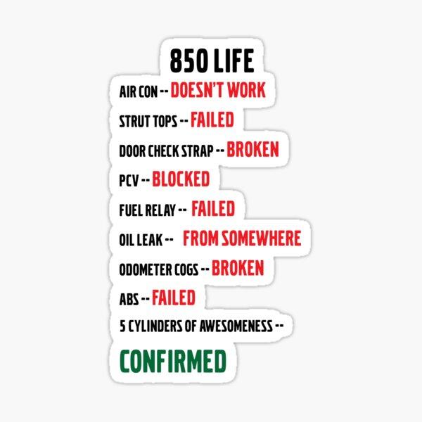 #850Life Sticker
