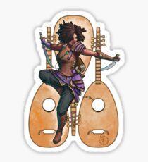 Fitzhywel's Fantastical Paraphernalia: Bard! Sticker