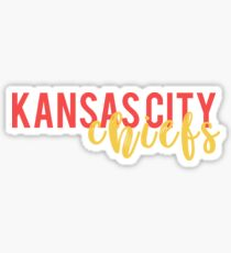 KC Chiefs Script Sticker