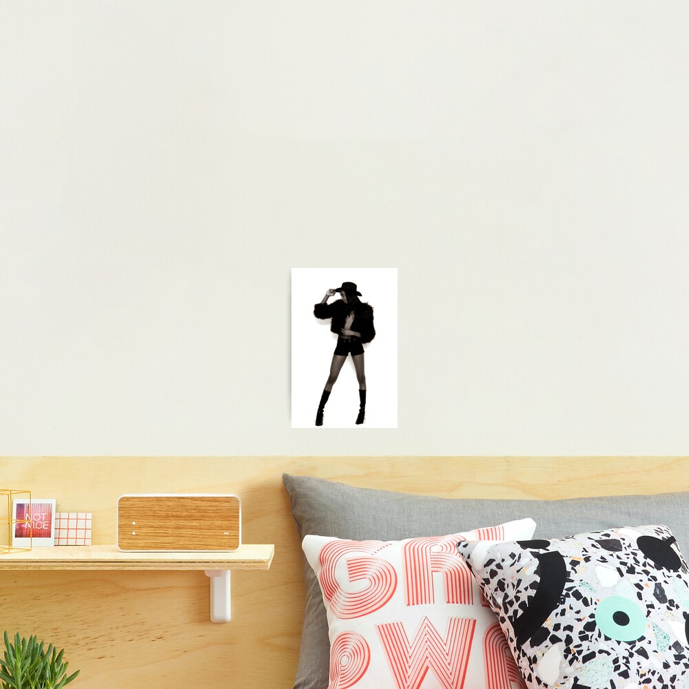 Long Legged Cowgirl Photographic Print