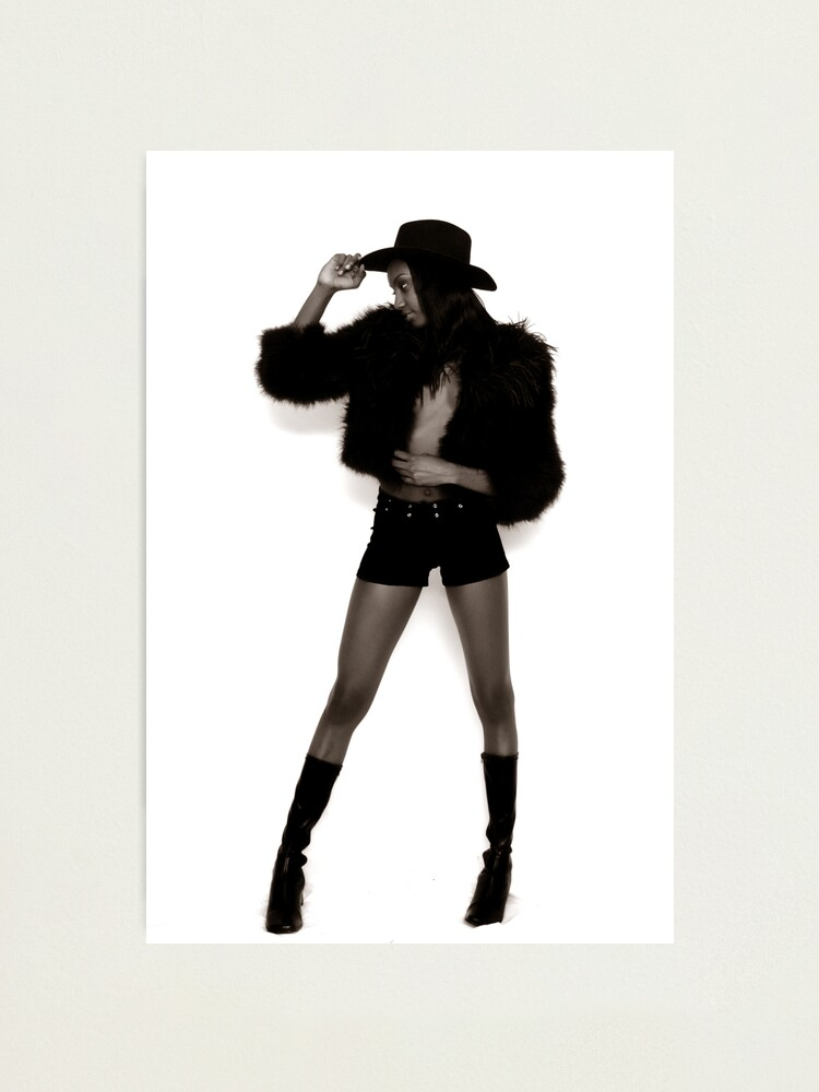 Alternate view of Long Legged Cowgirl Photographic Print