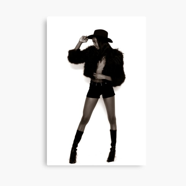 Long Legged Cowgirl Canvas Print