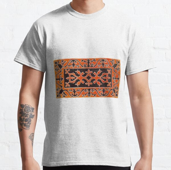 Tawlula T-Shirts, #Ковровый #узор #балкарского #карачаевского #войлочного #ковра #Carpet #pattern of a #Balkarian & #Karachay #felt #carpet #Ковровыйузор #CarpetPattern #таулу #tawlu #mountaineer #таулула #tawlula Classic T-Shirt