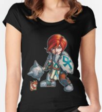 Fitzhywel's Fantastical Paraphernalia: Cleric! Women's Fitted Scoop T-Shirt