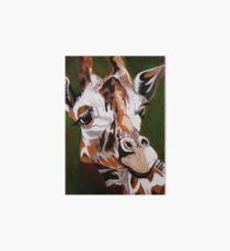 Giraffe, acrylic on canvas Art Board