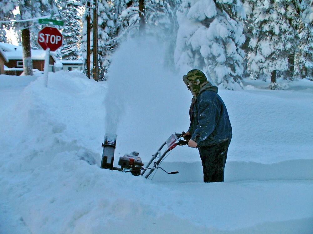 Breaking through Snow Berm by Edward Henzi