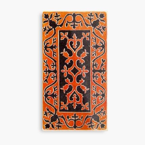 #Ковровый #узор #балкарского #карачаевского #войлчного #ковра #Carpet #pattern of a #Balkarian #Karachay #felt #carpet #Ковровыйузор #CarpetPattern #таулу #tawlu #mountaineer #таулула #tawlula Metal Print