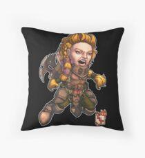 Fitzhywel's Fantastical Paraphernalia: Fighter! Throw Pillow