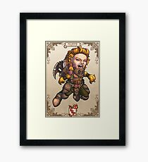 Fitzhywel's Fantastical Paraphernalia: Fighter! Framed Print