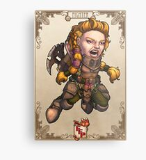 Fitzhywel's Fantastical Paraphernalia: Fighter! Metal Print