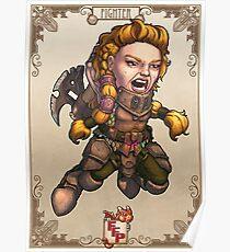 Fitzhywel's Fantastical Paraphernalia: Fighter! Poster