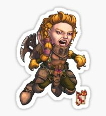 Fitzhywel's Fantastical Paraphernalia: Fighter! Sticker