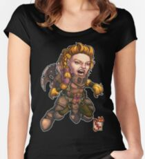 Fitzhywel's Fantastical Paraphernalia: Fighter! Women's Fitted Scoop T-Shirt