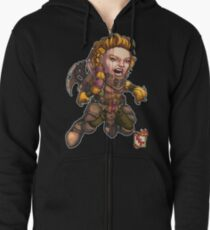 Fitzhywel's Fantastical Paraphernalia: Fighter! Zipped Hoodie