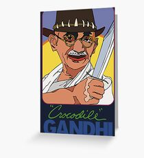 Crocodile Gandhi Greeting Card