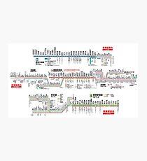 Tokyo Metro Transit Map - Cool Japan Toei Subway Mita Asakusa Shinjuku Line Tokyo 2020 Photographic Print