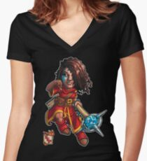 Fitzhywel's Fantastical Paraphernalia: Mage! Women's Fitted V-Neck T-Shirt
