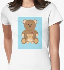 TWO TEDDY BEARS #2 Womens Fitted T-Shirt