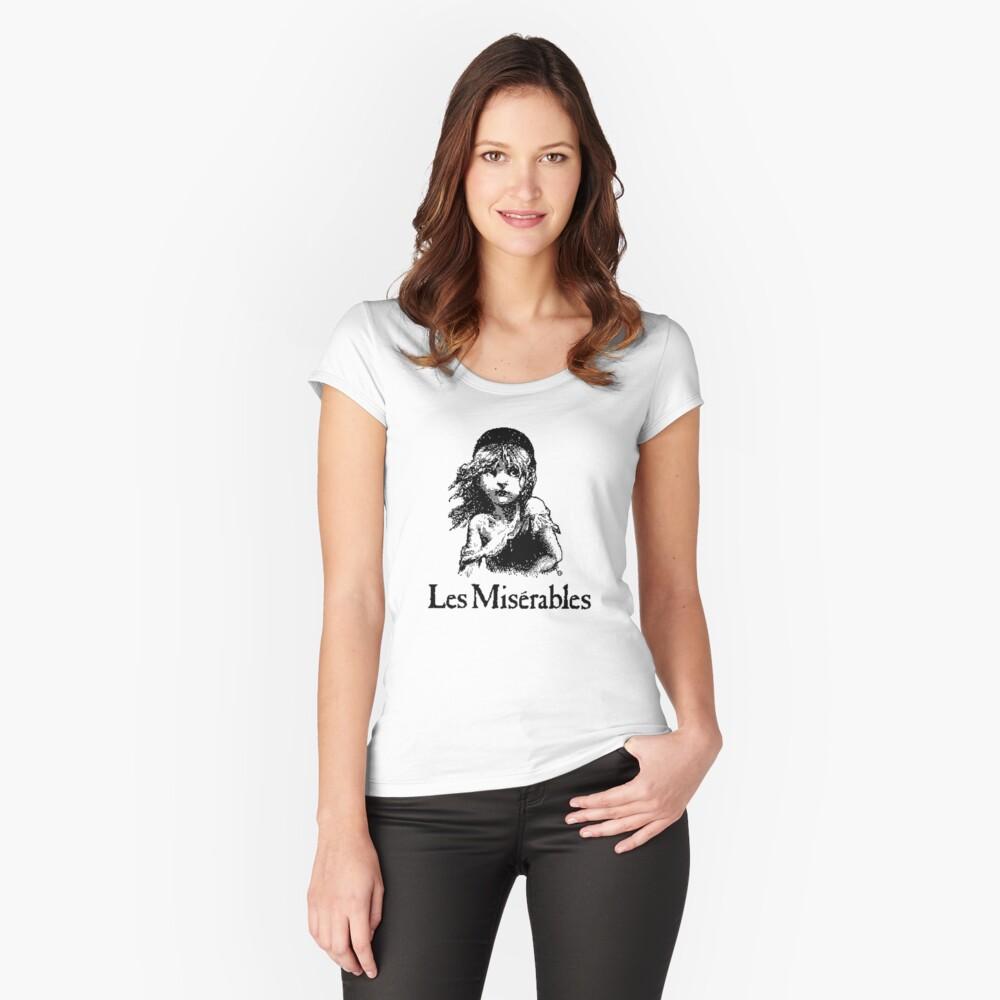 LOS MISERABLES Camiseta entallada de cuello ancho