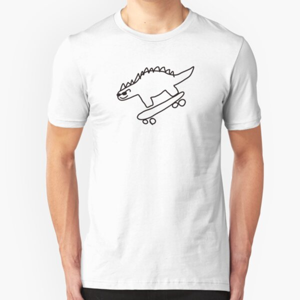 Dino Skateboarding Slim Fit T-Shirt