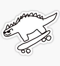 Pegatina monopatín de Dino