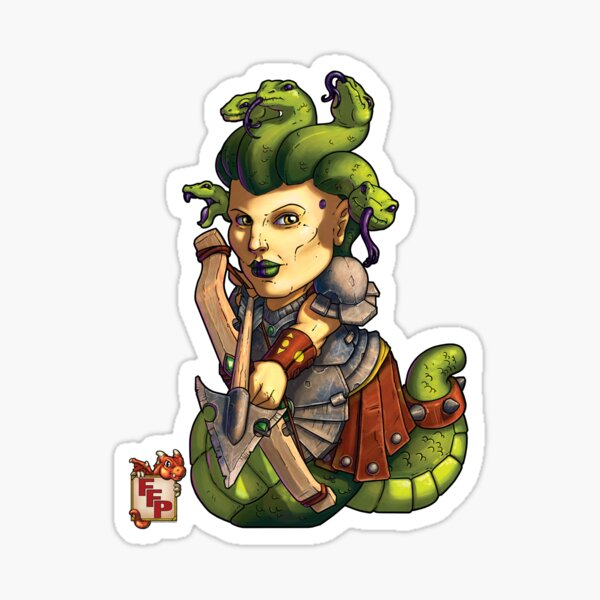 Fitzhywel's Fantastical Paraphernalia: Gorgon! Sticker