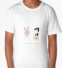 My Eyes Are Up Here - from the Apple Valley webcomic Long T-Shirt
