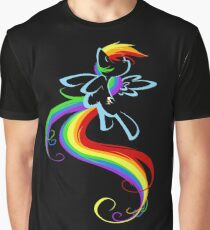 Flowing Rainbow Graphic T-Shirt