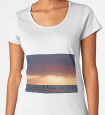 Surfers Waiting For The Evening Wave Women's Premium T-Shirt
