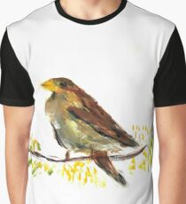 Bird Oil Painting Graphic T-Shirt