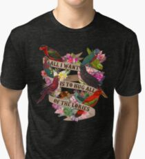 Umarmt alle Lories Vintage T-Shirt