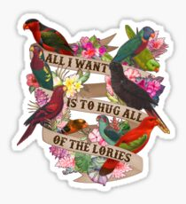 Hug All Of The Lories Sticker