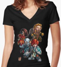 Fitzhywel's Fantastical Paraphernalia: The A Team! Women's Fitted V-Neck T-Shirt
