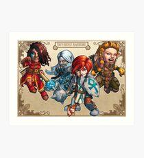 Fitzhywel's Fantastical Paraphernalia: The A Team! Art Print