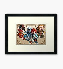 Fitzhywel's Fantastical Paraphernalia: The A Team! Framed Print