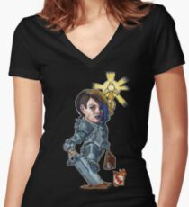 Fitzhywel's Fantastical Paraphernalia: Paladin! Women's Fitted V-Neck T-Shirt