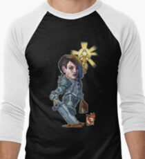 Fitzhywel's Fantastical Paraphernalia: Paladin! Men's Baseball ¾ T-Shirt