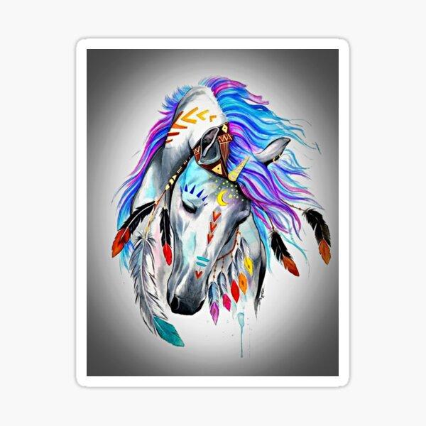 Native American  Horse Sticker