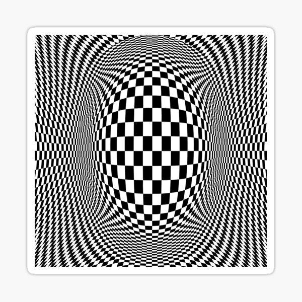 Optical Illusion - Visual Illusion Sticker
