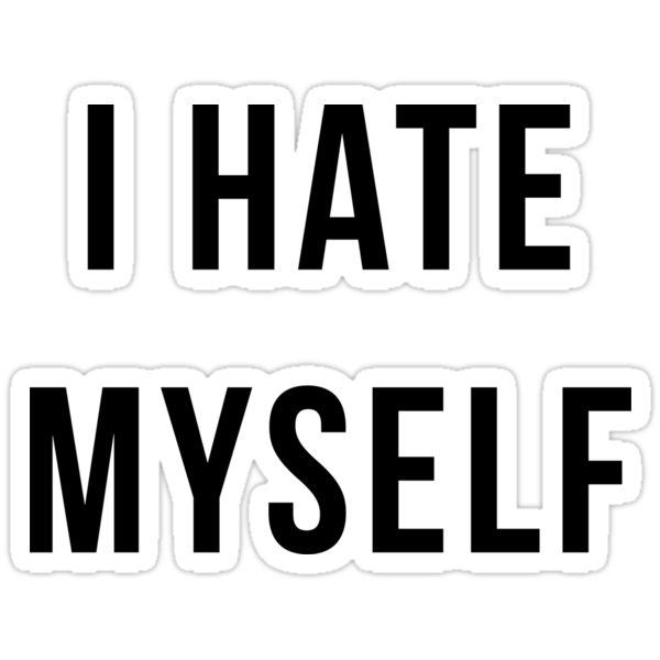 I Hate Myself Bitmoji Stickers By Dealzillas Redbubble