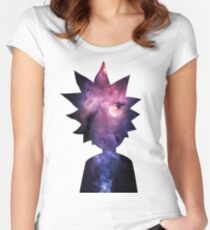 Rick and Morty Galaxy Silhouette Women's Fitted Scoop T-Shirt