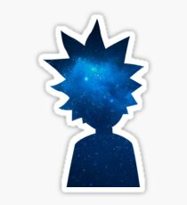 Rick and Morty Universe Silhouette Sticker