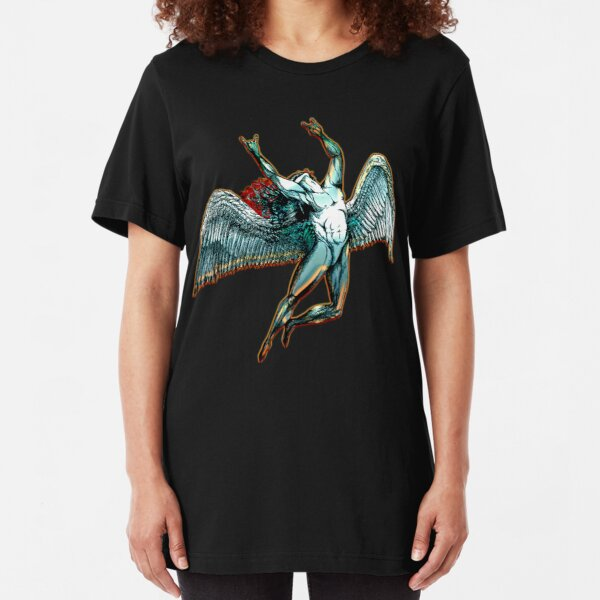 ICARUS THROWS THE HORNS - dark shadows  *awesome UNLISTED designs in my portfolio* Slim Fit T-Shirt