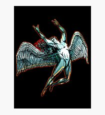 ICARUS THROWS THE HORNS - dark shadows  ***find hidden gems in my portfolio*** Photographic Print
