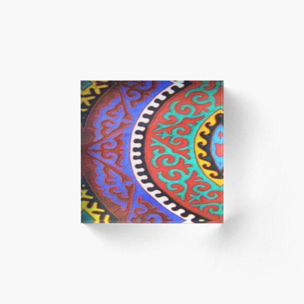 #Ковровый #узор #балкарского #карачаевского #войлочного #ковра #Carpet #pattern of a #Balkarian & #Karachay #felt #carpet #Ковровыйузор #CarpetPattern #таулу #tawlu #mountaineer #таулула #tawlula Acrylic Block